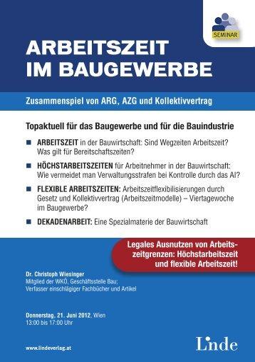 ARBEITSZEIT IM BAUGEWERBE - Linde Verlag