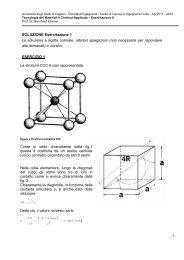 SOLUZIONE Esercitazione 1 La soluzione è scritto normale ... - DipCIA