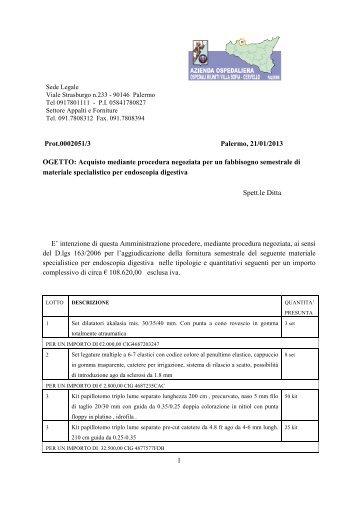 Richiesta di acquisto materiale specialistico endoscopia - Azienda ...
