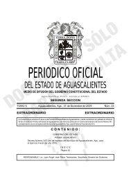 Periodico Oficial Num. 23 Extraordinario, 31 Diciembre 2009 ...