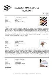 Fevrier 2013 - Nouveautés Romans Adultes.pdf - Terville