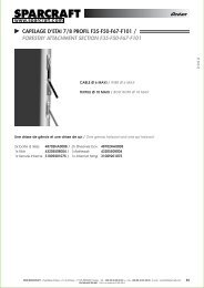 Océan CAPELAGE D'ETAI 7/8 PROFIL F35-F50-F67 ... - Sparcraft