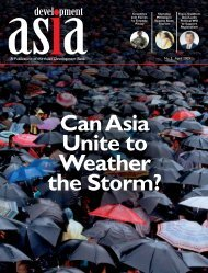 Can Asia Unite to Weather the Storm? (April 2009) - Development Asia