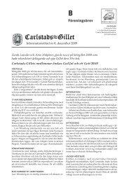 Informationsblad nr 8, december 2009 Zarah ... - Carlstads-Gillet