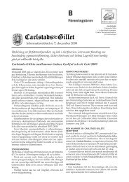 Informationsblad 2008 som pdf-fil (0,9 MB) - Carlstads-Gillet