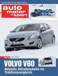 Aktuelle Allradmodelle im Traktionsvergleich - Volvo