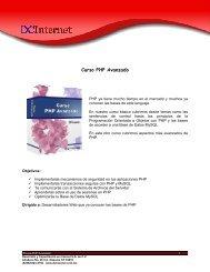 Curso PHP Avanzado - DCInternet