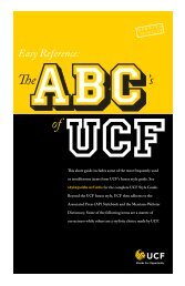 UCF Style Guide - University of Central Florida