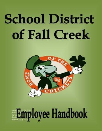 Employee Handbook - Fall Creek School District