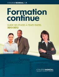 Guide des études à temps partiel - 2012-2013 - Collège Boréal