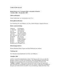 Rådberättelse - Carlstads-Gillet