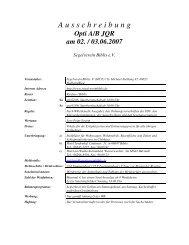 Ausschreibung - Segelverein Biblis eV