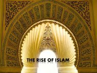 The rise of Islam & the crusades