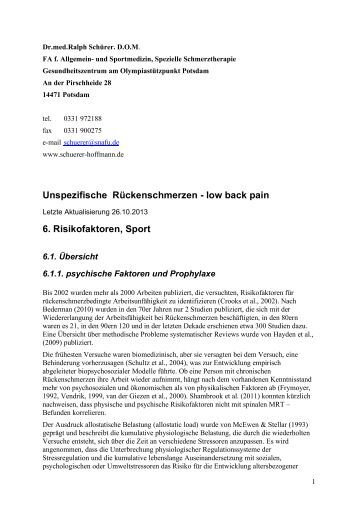 Kapitel 6,7 - Risikofaktoren / Prognose - Praxisgemeinschaft | Dr ...