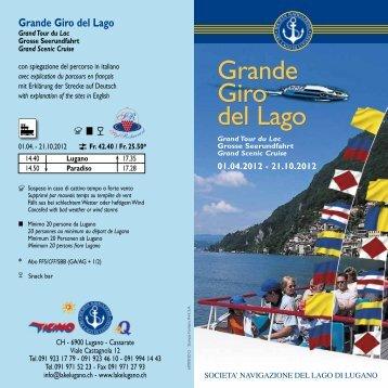 Grande Giro del Lago Grande Giro del Lago - Società navigazione ...