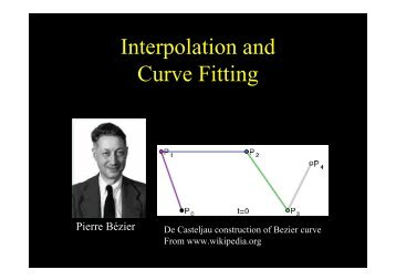 Interpolation and Curve Fitting