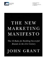 02. The New Marketing Manifesto - IAA Marketing Management