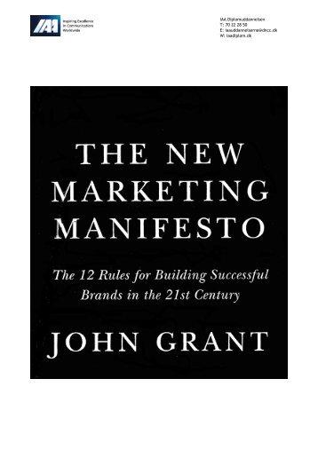 02. The New Marketing Manifesto - IAA Marketing Management