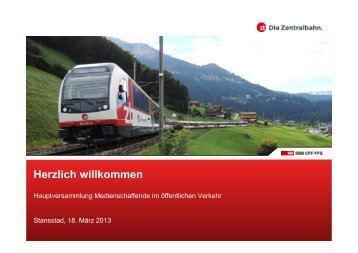 Die Zentralbahn - bahn-journalisten.ch