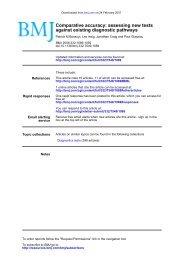 Bossuyt PM, Irwig L, Craig J, Glasziou P - Medafile.com