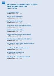 ahli-ahli majlis penasihat syariah bank negara malaysia (1997 - 2010)