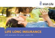 Life Long Insurance booklet - Irish Life