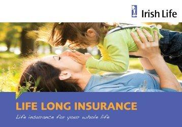 Life Long Insurance booklet - Irish Life