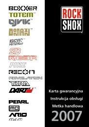 Instrukcja Rock Shox PL - BIKE-ARENA.pl