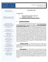 Workers' Compensation News September 2004 - Margolis Edelstein
