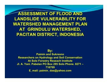 assessment of flood and landslide vulnerability for watershed ...