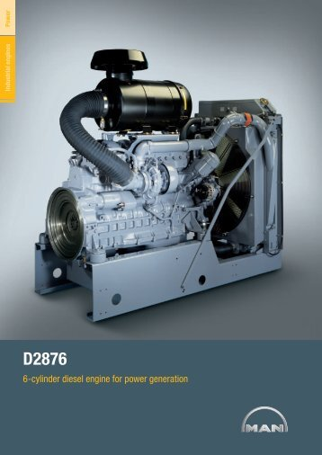 6-cylinder diesel engine for power generation