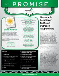The Promise Newsletter Summer 2013 - Girl Scouts of Central Illinois