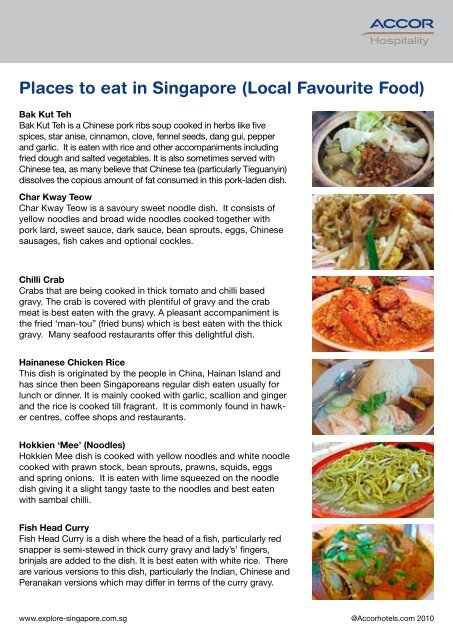 Places to eat in Singapore (Local Favourite Food)