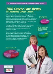 2010 Cancer Care Trends - Association of Community Cancer Centers