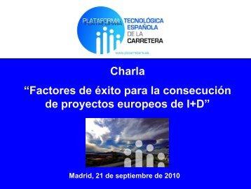 Factores de éxito para la consecución de proyectos europeos de I+D