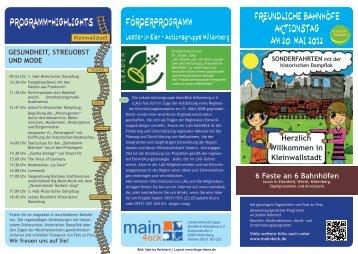 Programm Kleinwallstadt - Main4Eck Miltenberg