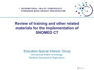 Documentation & Resources to Support SNOMED CT ... - ihtsdo