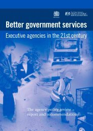 Better government services: Executive agencies in the 21st century