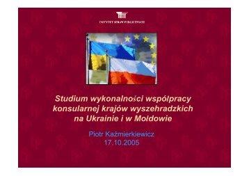 Studium wykonalności współpracy konsularnej krajów ...