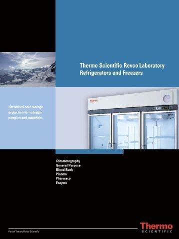 Thermo Scientific Revco Laboratory Refrigerators and ... - Medical