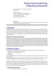 Energy Resource Planning; Integrating Wind Power - - CiteSeerX