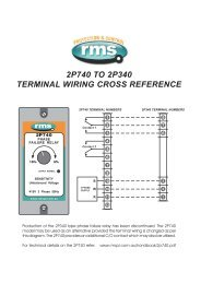 2p740 to 2p340 terminal wiring cross reference - Rmspl.com.au