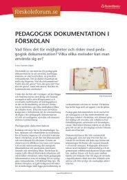 Pedagogisk dokumentation i förskolan