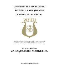 zarządzanie i marketing - Wydział Zarządzania i Ekonomiki Usług