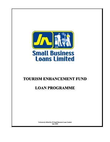 tourism enhancement fund loan programme - Jamaica National
