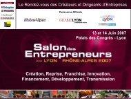 13 et 14 Juin 2007 - Salon des Entrepreneurs Lyon Rhône-Alpes