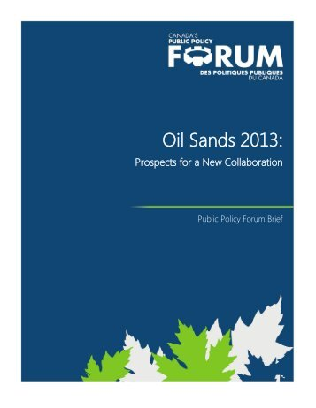 Final Report - Public Policy Forum