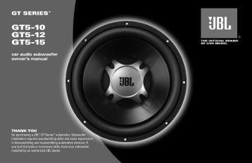 GTO OM - JBL.com