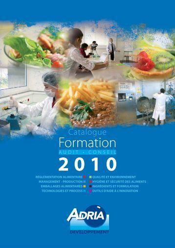 Catalogue ADRIA des formation agroalimentaires 2010 - Bretagne ...