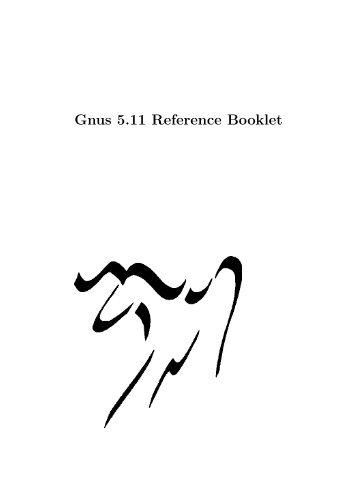 Gnus 5.11 Reference Booklet - BitTorrent download info